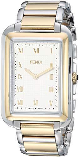 Fendi Stainless Steel Bracelet - Fendi Men's Classico Rect Swiss-Quartz Watch with Stainless-Steel Strap, Silver, 20 (Model: F701114000)