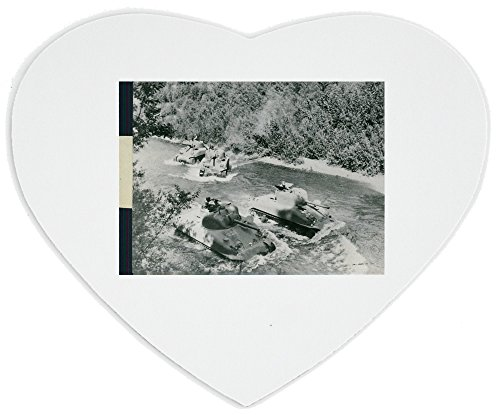 heartshaped-mousepad-with-an-american-tanks-go-over-deep-valley-to-the-front-line-in-italyduring-wor