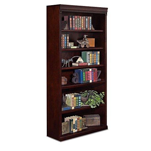 "Huntington Club Six Shelf Traditional Bookcase - 72"" H Huntington Cherry Dimensions: 36""W x 13""D x 72""H Weight: 171 lbs."