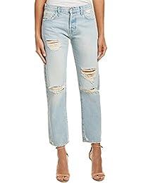 Current/elliott Woman Cropped Mid-rise Flared Jeans Mid Denim Size 24 Current Elliott