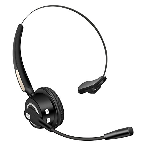 Truck Driver Bluetooth Headset Office Wireless headphones Mic Noise Canceling Headset with Microphone for Call Center,Cell Phone Laptop