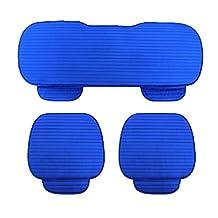 Okayda Fashion Fleece Car Seat Covers Set Crystal Velvet Anti-slip Car Seat Cushions Set Fits Most Car, Truck, SUV Seats Blue