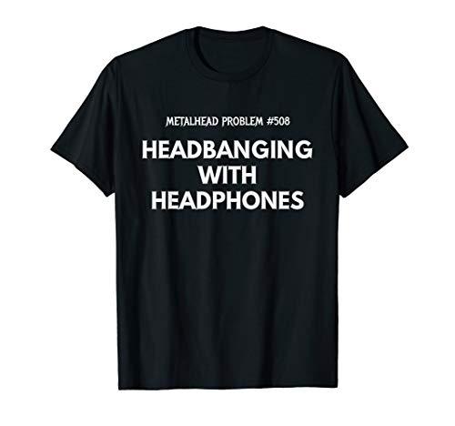 Headbanging with Headphones T-Shirt