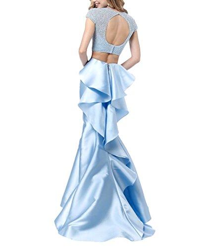 Meerjungfrau Blau Festlichkleider mia Promkleider Bodenlang Ballkleider Langes Abendkleider Brau Pailletten La Partykleider qxIpPw6nOw