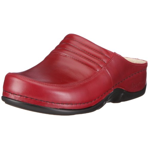Berkemann Victoria Ladies Clogs Red (vino Rosso)