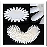 350buy 10 X ivory-white Acrylic Wheel False Nail Art Tips Practice Display Nail Art Tool