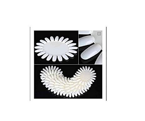 Amazon 350buy 10 x ivory white acrylic wheel false nail art 350buy 10 x ivory white acrylic wheel false nail art tips practice display nail art prinsesfo Image collections