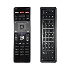 New XRT500 Dual Side Qwerty Keyboard Remote Control fit for 2015 2016 VIZIO Smart TV M80-C3 M322I-B1 M422I-B1 M492I-B2 M502I-B1 M552I-B2 M602I-B3 P502ui-B1E P602UI-B3 P652UI-B2 P502ui-B1
