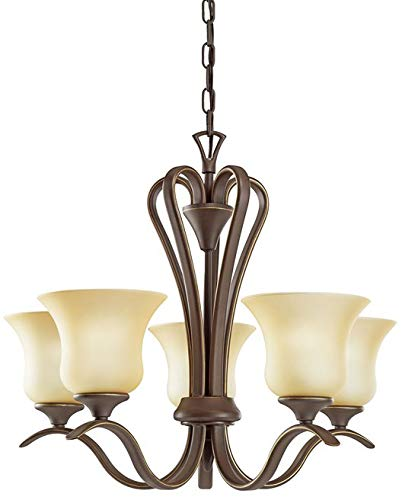 Kichler 2085OZL18 Transitional LED Chandelier from Wedgeport Collection in Bronze/Dark Finish