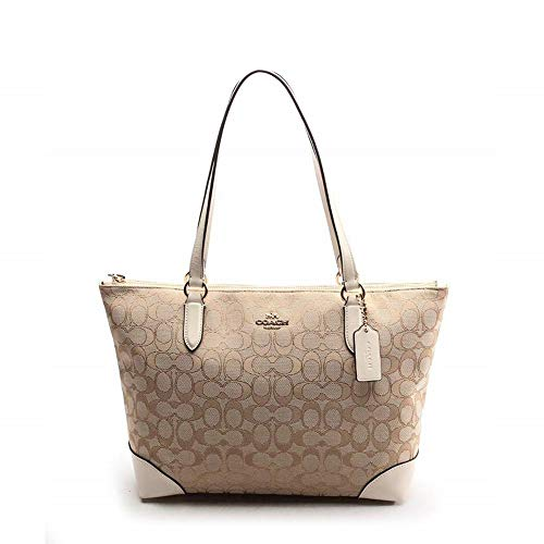 COACH Outline Signature Zip Tote 7