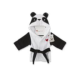 Baby Aspen Pamper Me Panda Hooded Spa Robe, Black/White/Multi, 0-9 Months