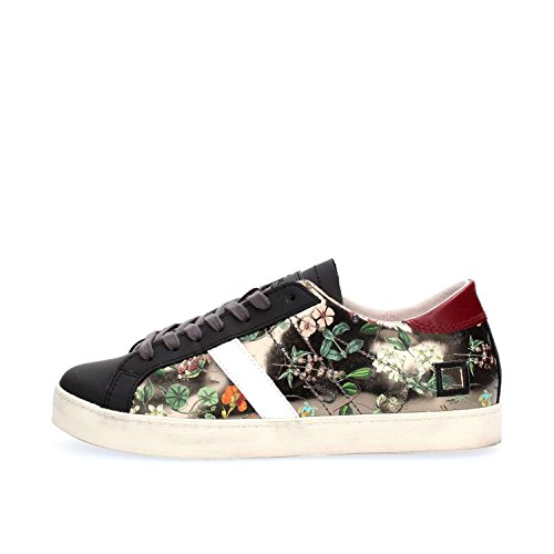 Donna Con Lacci Scarpe Date Mirror Floreale Low Hill Sneakers Piombo Flower S7w0qP8S