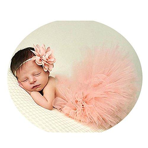 Fashion Newborn Baby Photography Props Boy Girl Crochet Costume Outfits Tutu Skirt (Crochet Costume)