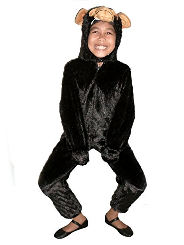 Gorilla Costumes Cage (Fantasy World Monkey Halloween Costume f. Children/Boys/Girls, Size: 6, F84)