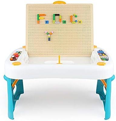 LIUXING Mesa de Aprendizaje de Juguetes Mesa de construcción for ...