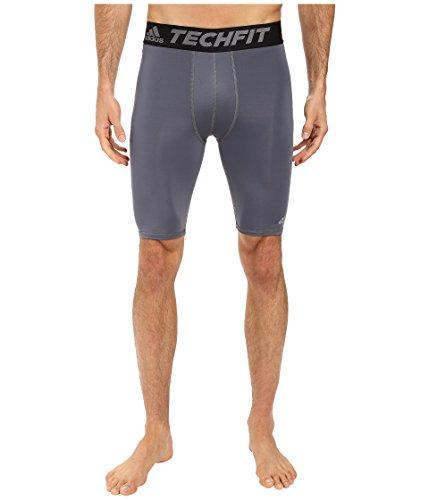 adidas Men's Training Techfit Base Layer Short Tights, Onix, Large ()
