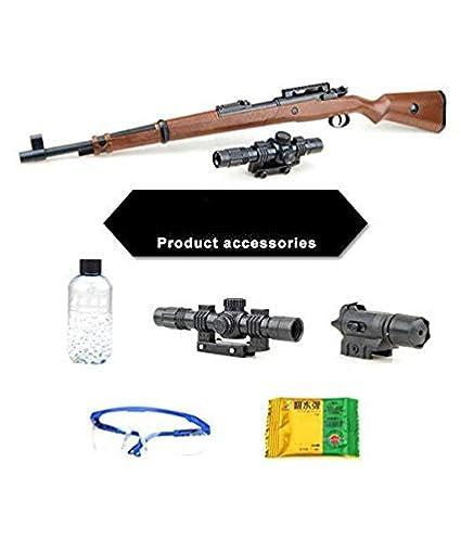 Dharti Enterprises PubG Theme Gun Toys Set with Assault Rifle Kar98k Model,  4X Design Scope, Toy Knife, Water and Soft Foam Bullets