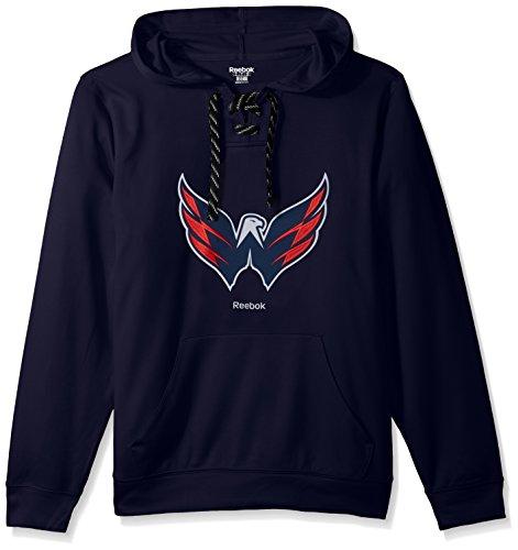 fan products of NHL Winnipeg Jets Adult Men Team Crest Performance Fleece Hockey Hood,Large,Navy