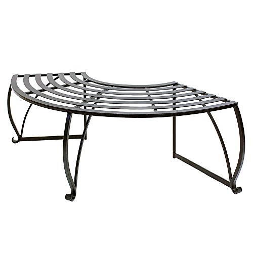 Achla Designs Backless Lutyen Tree Bench, Black