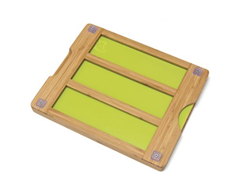 Lipper International 8869 Bamboo Wood Cutting Board with 6 Colored Poly Inlay Mats, 16'' x 13-1/8'' x 1-5/8'' by Lipper International (Image #5)
