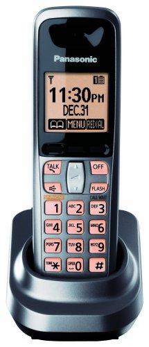 (Panasonic KX-TGA106M Extra Handset for KX-TG1061M and KX-TG1062M, Metallic Grey (KXTGA106M))