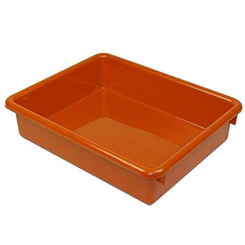 Romanoff 3IN Orange Stowaway Letter Tray