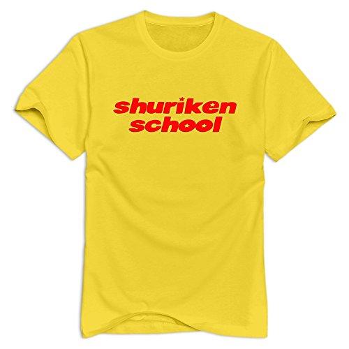 Shuriken School Awesome Casual Yellow Shirts For Men's Size M