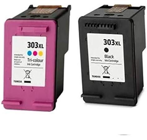 Pack Cartuchos Tinta Compatible para HP 303 XL Negro y Tricolor: Amazon.es: Electrónica