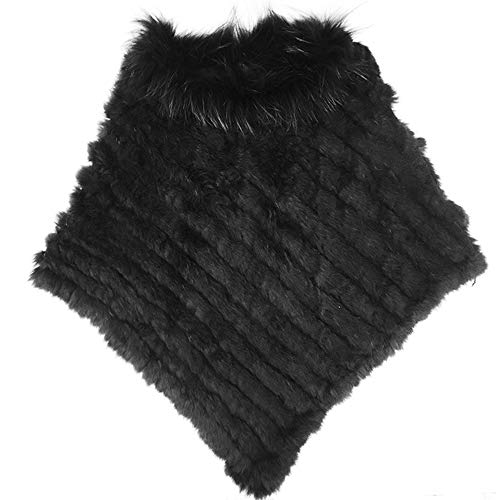 Yu He Women's New Womens Real Rabbit Fur Raccoon Collar for sale  Delivered anywhere in USA