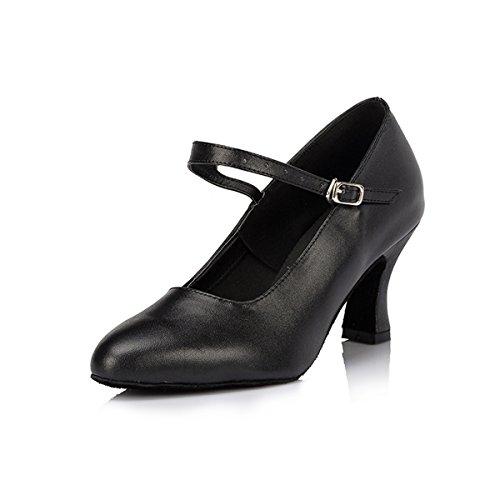 Miyoopark ,  Damen Tanzschuhe Black-7cm Heel