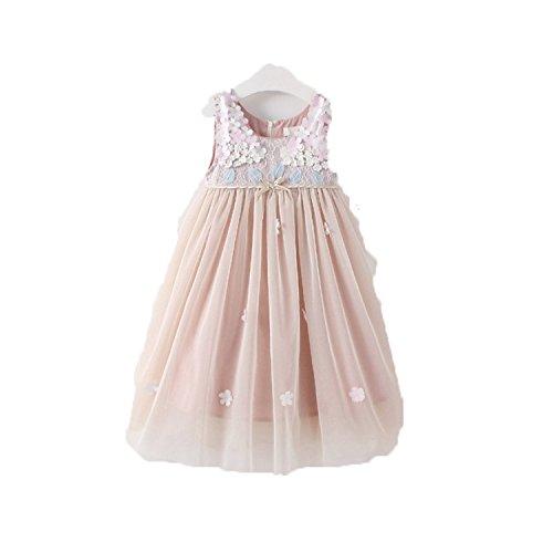 Doris Batchelor Elegant Summer Baby Girls Dress Floral Bows mesh Dress Princess Dress Girl Vest Dress Girls Costume -