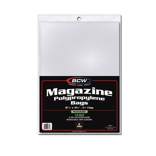 BCW 1-MAG-R Resealable Magazine Bags