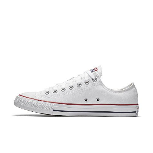 Men Unisex 8 Sneaker 10 Converse Taylor Optical Star 5 Women Chuck OX All 5 White RxwqnTwg