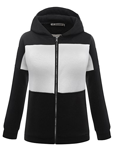 Zip Thermal Hooded Pullover Sweatshirt (Aphratti Women's Loose Fit Long Sleeve Fleece Pullover Full Zip Hoodie Pattern 3)