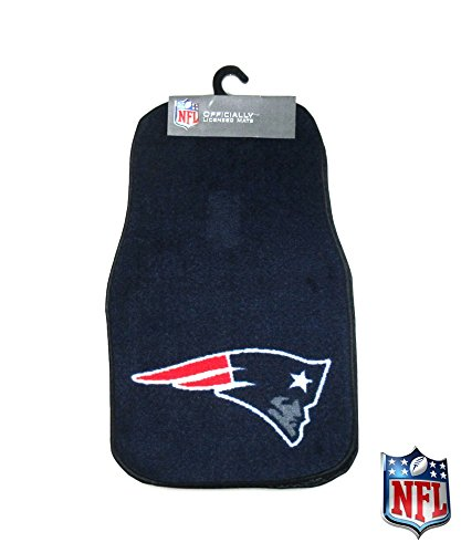 New England Patriots Officially Licensed 17x27 Carpet NFL Car Mats 2 Piece -