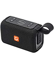 DOSS E-go Portable Bluetooth Speaker with Loud Volume, Increased Bass, IPX6 Waterproof, Built-in Mic. Perfect Wireless Speaker for Phone,TV, Tablet and More[Black]