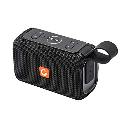 DOSS E-go Portable Bluetooth Speaker with Loud Volume, IPX6 Waterproof and Rugged for Home and Outdoor, Built-in Mic. Perfect Wireless Speaker for Phone, Tablet, TV and More - Black by DOSS