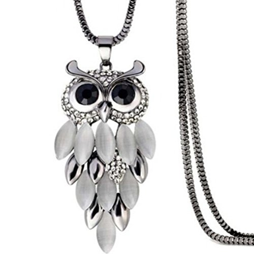 Clearance Deals,Toosvan Owl Pendant Necklace Women Vintage Glass Cabochon Necklace Jewelry