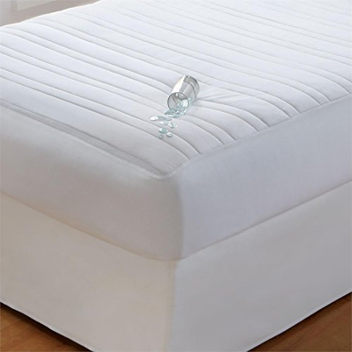 Brylanehome Soft & Dry Waterproof Pad (White,Queen) by BrylaneHome