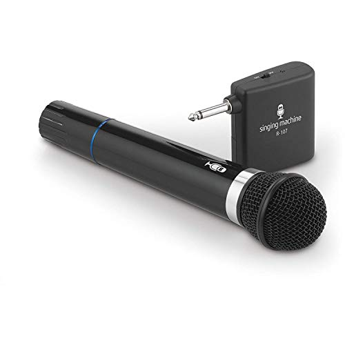 - Singing Machine SMM-107 B Wireless Microphone Uni-Directional Dynamic (Renewed)