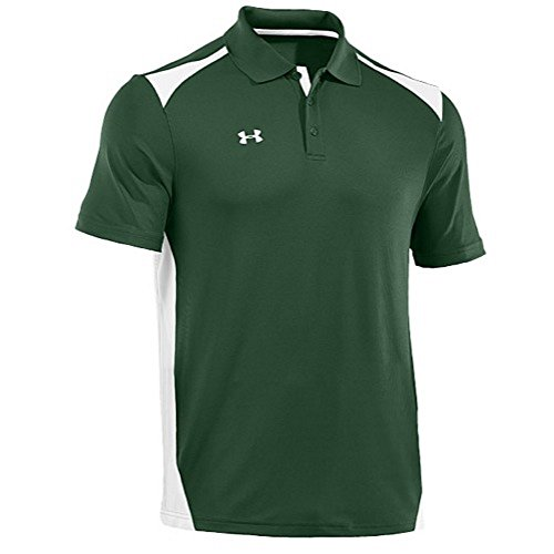 Under armour team cb polo forest green white white 3xl for Under armour 3xl polo shirts