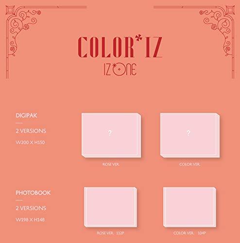 IZONE [COLOR*IZ] 1st Mini Album ROSE CD+POSTER+PhotoBook+PhotoCard+Tracking  Number K-POP SEALED