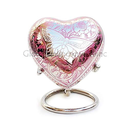 Portland Pink Heart Keepsake With Velvet Box