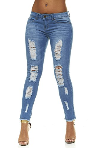 V.I.P. JEANS Women's 2-8532MB-13, Medium Blue, 13