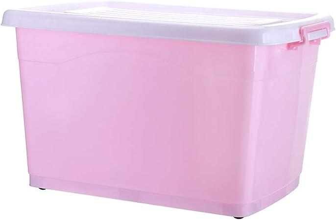 Caja de plástico sellada Caja de almacenamiento de plástico grande, transparente, moderna y moderna, adecuada para el hogar, escuela, niño, juguete, ropa, ropa interior, cajas apilables-C-40L: Amazon.es: Hogar