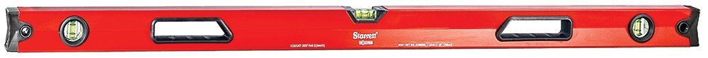 Starrett Exact KLBX48-1-N Aluminum Box Beam Magnetic Level with 3 Block Vials, 48'' Length