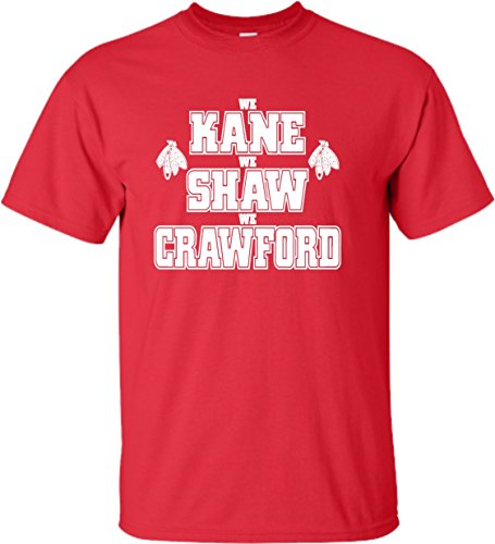 Go All Out Screenprinting XXX-Large Red Adult We Kane We Shaw We Crawford T-Shirt