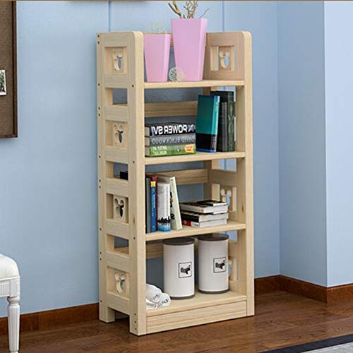 Pine Cd Storage Cabinet (Storage Bookshelf Wood Display CD DVD Book Holder Unit Rack Bookcase Organizer Study Bedroom CJC (Size : 6028123cm))