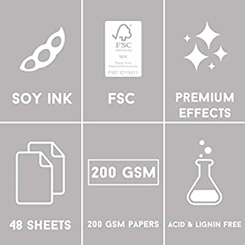 First Edition FEPAD225 FSC 8x8 Paper Bloom /& Wonder-48 Sheet Pad Soy Inks-for Card Making Acid /& Lignin Free Home Decor /& Papercraft Scrapbooking 8x8 Multicolour 200gsm Heavyweight Cardstock