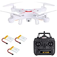 Goolsky X5C-1 2.0MP Camera Drone 3D Flips Headless Mode One Key Return RC Quadcopter with Two Extra Battery RTF